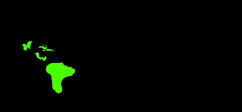 Występowanie Anturium - mapa